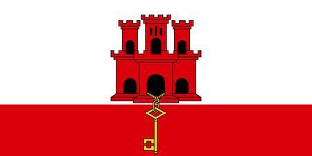 Flag of Gibraltar, Gibraltar flag.