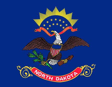 Flag of North Dakota. Flag of the State of North Dakota, USA.