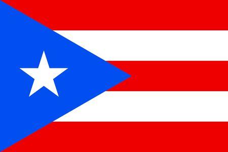 Flag of Puerto Rico. Commonwealth of Puerto Rico