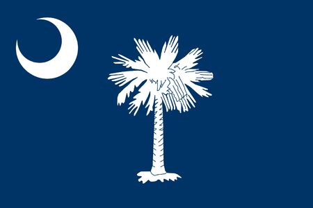 Flag of the state of South Carolina, USA. Flag of South Carolina