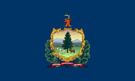 Flag of State of Vermont, USA