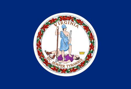 Flag of Commonwealth of Virginia, USA