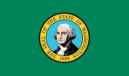 Flag of the State of Washington, USA Stock fotó