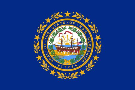 Flag of the state of New Hampshire, USA