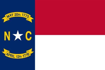 Flag of North Carolina. Flag of the state of North Carolina, USA.