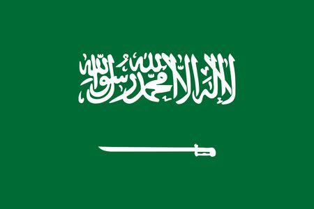 Flag of Saudi Arabia. Flag of the Kingdom of Saudi Arabia.  Saudi Arabia flag.