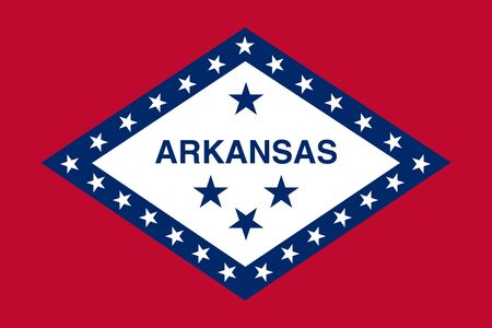 Flag of Arkansas. Flag of the State Arkansas,  Фото со стока