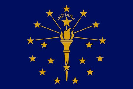 Flag of Indiana Flag of the State Indiana,