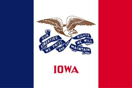 Flag of Iowa. Flag of the State Iowa,    Фото со стока