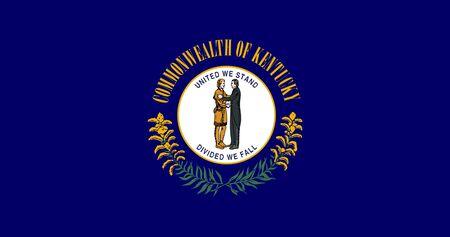 Flag of Kentucky. Flag of the Commonwealth of Kentucky,