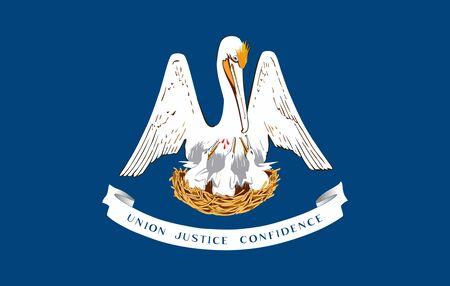 Flag of Louisiana. Flag of the State of Louisiana,