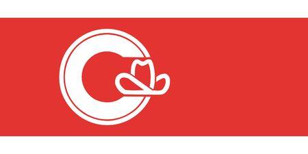 Flag of Calgary. Flag of Canadian City of Calgary, province Alberta, Canada