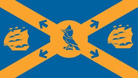 Flag of Halifax. Flag of Canadian City of Halifax, Canada  Фото со стока
