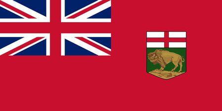 Flag of Manitoba. Flag of Canadian province of Manitoba.