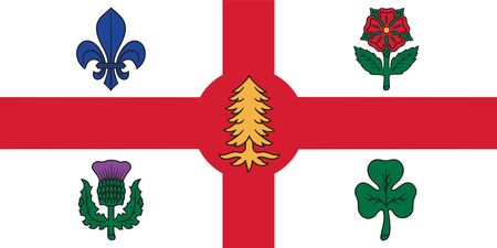 Flag of Montreal. Flag of Canadian City of Montreal. Canada Day.