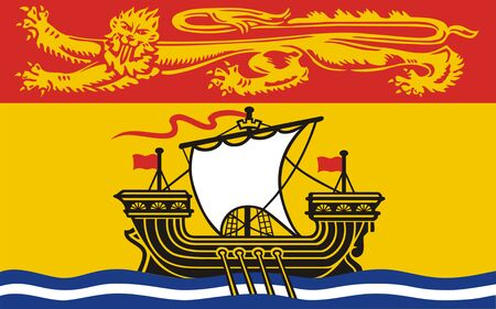 Flag of New Brunswick. Flag of Canadian province of New Brunswick. Canada.