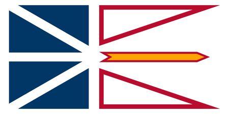 Flag of Newfoundland and Labrador. Flag of Canadian province of Newfoundland and Labrador. Canada.  Фото со стока