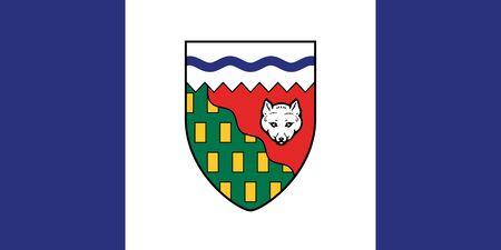 Flag of Northwest Territories. Flag of Canadian Northwest Territories. Canada.  Фото со стока