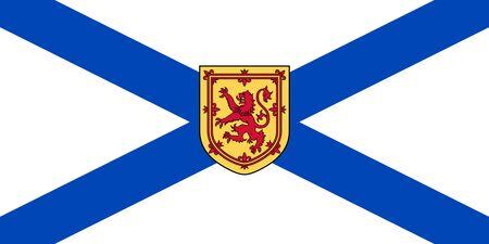 Flag of Nova Scotia (New Scotland). Flag of Canadian province of Nova Scotia. Canada.  Фото со стока
