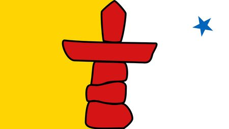 Flag of Nunavut. Flag of Canadian Territory of Nunavut. Canada.