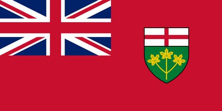 Flag of Ontario. Flag of Canadian province of Ontario, Canada.