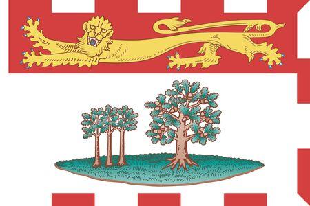 Flag of Prince Edward Island. Flag of Canadian province of Prince Edward Island,Canada.