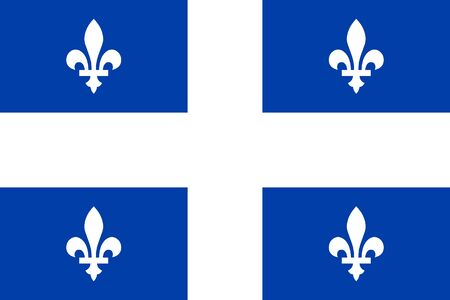 Flag of Quebec. Flag of Canadian province of Quebec, Canada.