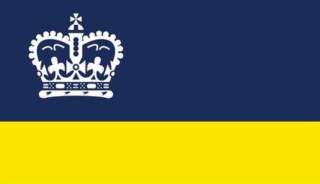 Flag of Regina. Flag of Canadian City of Regina, Canada  Фото со стока