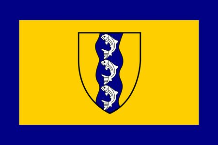Flag of Richmond, British Columbia Фото со стока