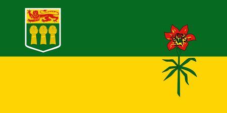 Flag of Saskatchewan. Flag of Canadian province of Saskatchewan, Canada.