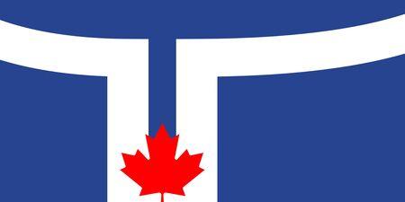 Flag of Canadian City of Toronto, Canada