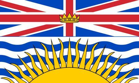 Flag of British Columbia. Flag of Canadian province of British Columbia, Canada.  Фото со стока