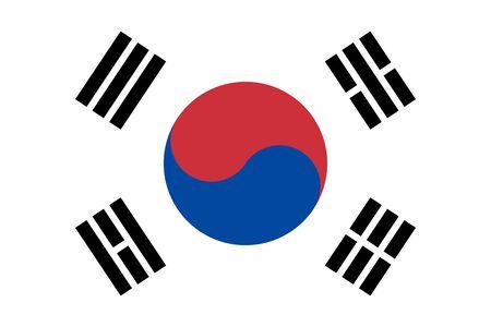 Flag of South Korea, also known as the Taegukgi