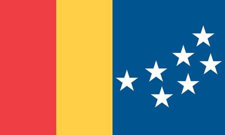 Flag of the City of Durham, North Carolina, USA.