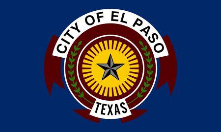 Flag of El Paso. Flag of the city of El Paso, Texas, USA.