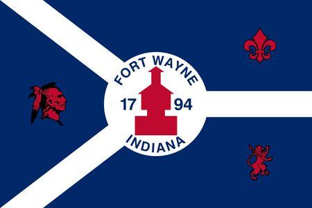 Flag of the City of Fort Wayne, Indiana, USA.