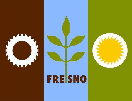 Flag of Fresno. Flag of the city of Fresno, California, USA.