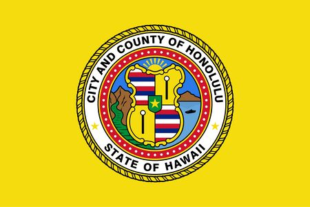 Flag of the City of Honolulu, Hawaii, USA.