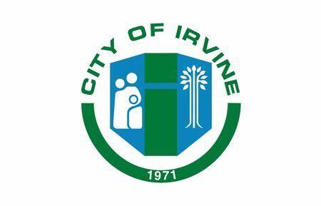 Flag of the City of Irvine, California, USA.