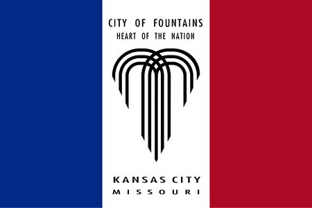 Flag of Kansas City. Flag of the city of Kansas City, Missouri, USA.