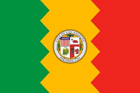 Flag of Los Angeles. Flag of the city of Los Angeles, California, USA.