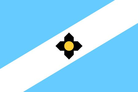 Flag of the City of Madison, Wisconsin, USA.