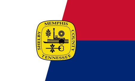 Flag of the City of Memphis, Tennessee, USA.