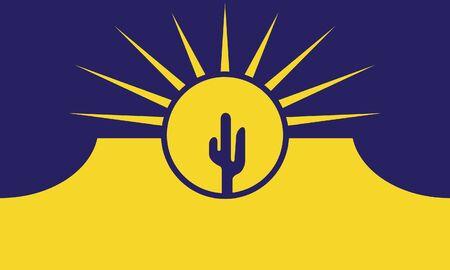 Flag of Mesa. Flag of the city of Mesa, Arizona, USA.