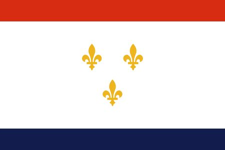 Flag of the City of New Orleans, Louisiana, USA.