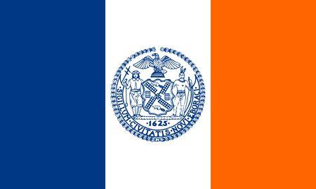 Flag of New York City (NYC). Flag of the city of New York City, NY, USA. 写真素材