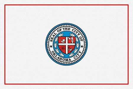 Flag of the City of Oklahoma City, Oklahoma, USA. 写真素材