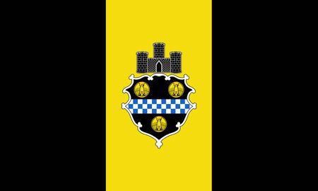 Flag of the City of Pittsburgh, Pennsylvania, USA.