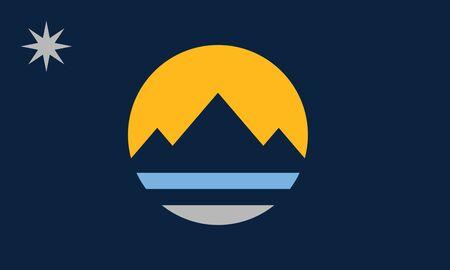 Flag of the City of Reno, Nevada, USA.