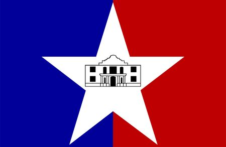 Flag of San Antonio, Texas. Flag of the city of San Antonio, Texas, USA.